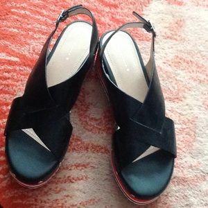 Platform sandals leather